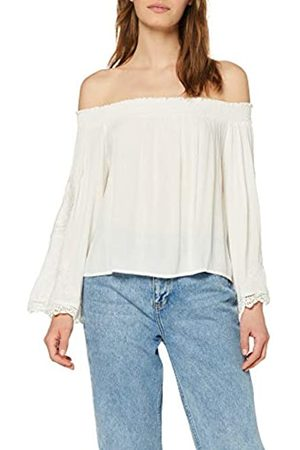 Miss Selfridge Women's Cutwork Sleeve Bardot Top Tank, (Ivory 200)