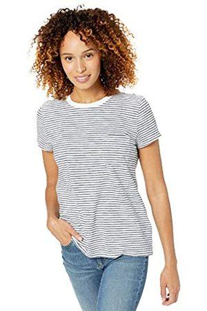 Goodthreads Vintage Cotton Pocket Crewneck T-shirt Cream Mini Stripe