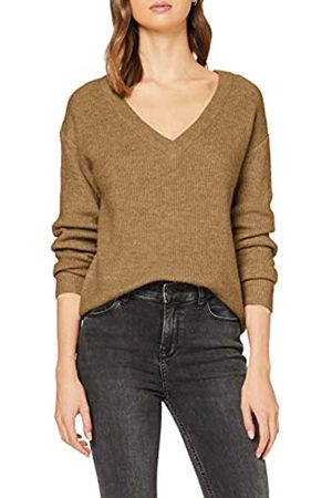 Pieces Women's Pcella Ls Wool V-Neck Knit Noos Jumper