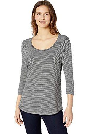 Amazon Solid 3/4 Sleeve Scoopneck Tunic Shirt