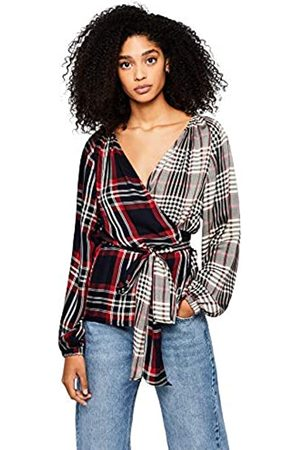 FIND Check Wrap Blouse