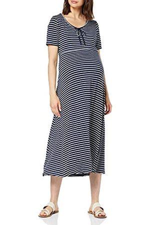 Dorothy Perkins Women's Maternity Scoop Neck Bow MIDI Dress-Stripe