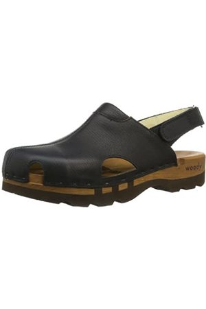 Woody Men's London Clogs, (Schwarz)
