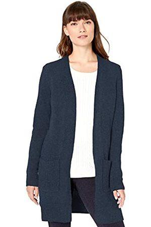 Amazon Jersey Stitch Open-front Sweater Navy Heather