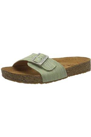 Haflinger Unisex Adults' Bio Gina T-Bar Sandals, (Grün 2741)