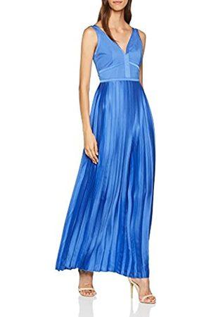 Little Mistress Women's Satin Maxi Dress, (Azure )