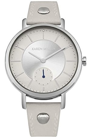 Karen Millen Womens Analogue Classic Quartz Watch with Leather Strap KM159W