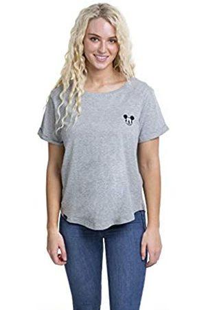 Disney Women's Mickey FACE EMB T-Shirt