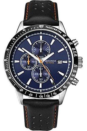 Sekonda Unisex-Adult Chronograph Quartz Watch with Leather Strap 1377.27