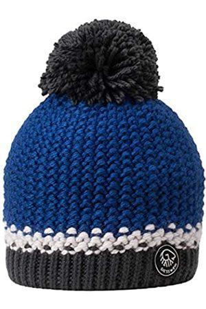 Giesswein Beanie Grubenkopf Royal ONE - Bobble hat with Merino Wool, Unisex Winter Knitted hat, Warm hat with Fleece Lining, Winter Beanie for Ladies and Gentlemen