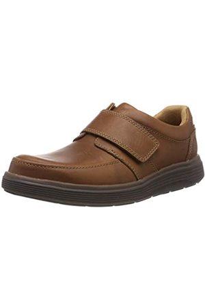 Clarks Men's Un Abode Strap Loafers, (Dark Tan Leather)