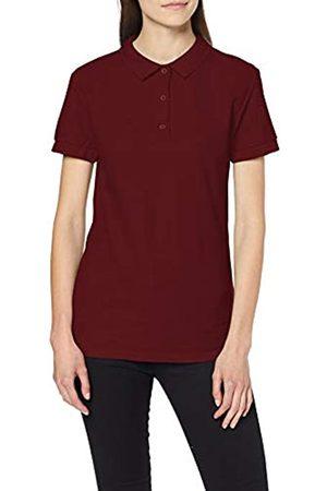 Gildan Women's Premium Cotton Double Pique Polo Shirt, (Maroon)