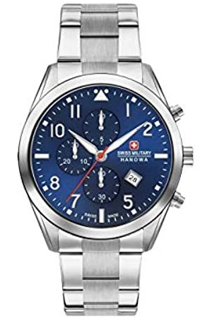 Swiss Military Mens Chronograph Quartz Watch with Stainless Steel Strap 06-5316.04.003