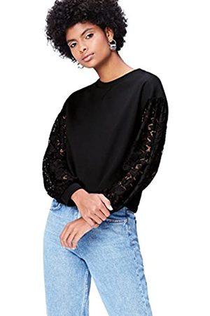 FIND Women's Sweatshirt Lace Sleeve Long Sleeve