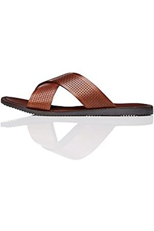 FIND Chester Woven Cross Over, Men's Open Toe Sandals, (Tan)