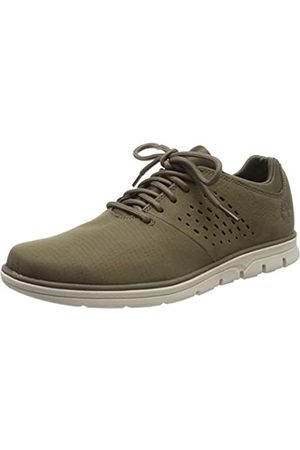 Timberland Men's Bradstreet Fabric and Leather Oxfords, (Olive Nubuck)