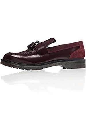FIND Amazon Brand - Ainsley, Mens Loafers, (Burgundy)