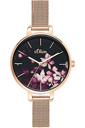 s.Oliver Womens Analogue Quartz Watch with Stainless Steel Strap SO-3592-MQ