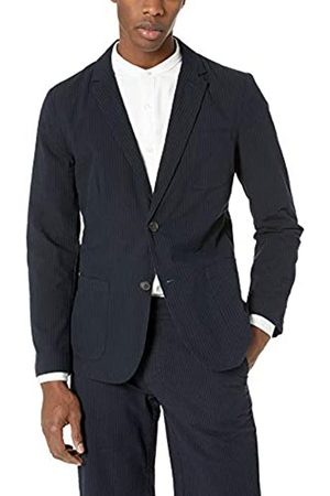 Goodthreads Men's Standard Slim-Fit Seersucker Blazer, Navy/
