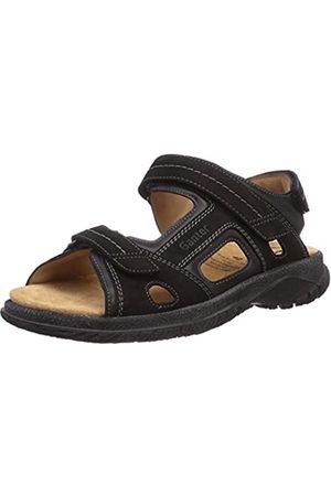 Ganter Men's Giovanni, Weite G Open Toe Sandals, (Schwarz 0100)