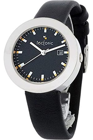 Tectonic Women's Quartz Watch with Dial Analogue Display and Leather Strap 41-1105-44