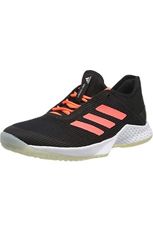 adidas Men's Adizero Club Tennis Shoe, Core /Signal Coral/FTWR