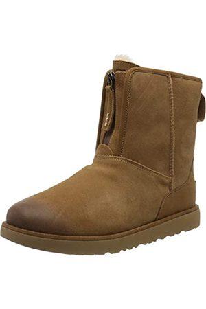 UGG Men's M Classic Short Front Zip WP Boots, (Chestnut Che)
