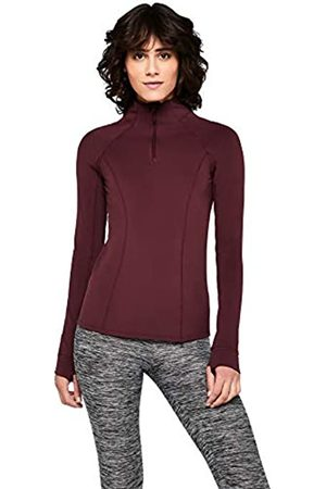 AURIQUE Amazon Brand - Women's Half Zip Sports Long Sleeve Jacket, 10