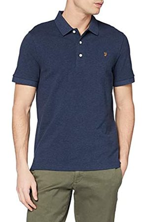 Farah Men's Blanes Polo Shirt, Teal Marl 422