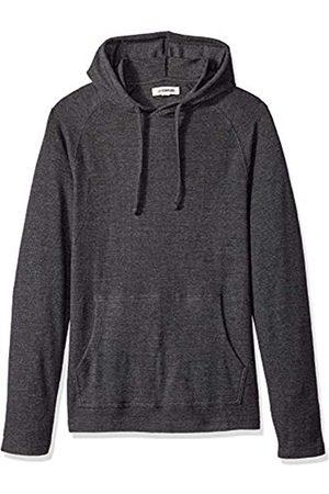 Goodthreads Amazon Brand - Men's Long-sleeve Slub Thermal Pullover Hoodie T-Shirt, (heather charcoal)