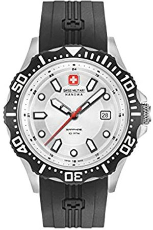 Swiss Military Mens Analogue Classic Quartz Watch with Silicone Strap 06-4306.04.001