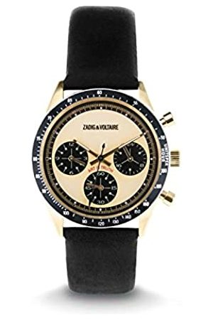 Zadig & Voltaire Unisex Analogue Classic Quartz Watch with Leather Strap ZVM117