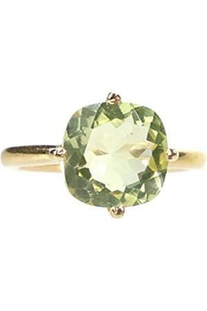Ailoria ÉGLANTINE Gold Plated Lemon Quartz Ring - Size 13