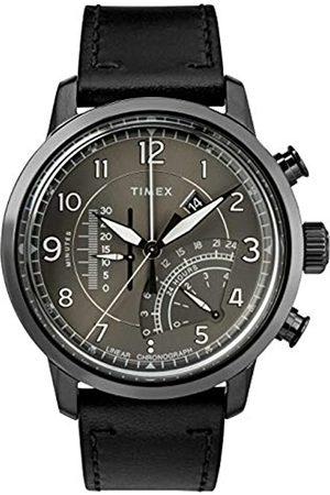 Timex Mens Chronograph Quartz Watch with Leather Strap TW2R69000