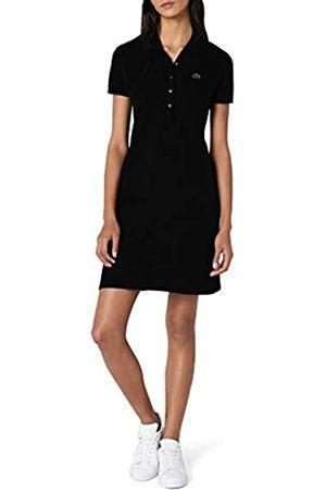 Lacoste Women's Ef8470 Knee-Length Fit Slim Dress, (Noir)