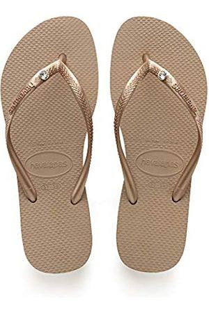 Havaianas Women's Slim Crystal Glamour Flip Flops, (Rose 8548)