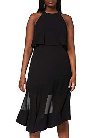 Coast Women's Blouson Dress Lola Overlay Midi ( 80)