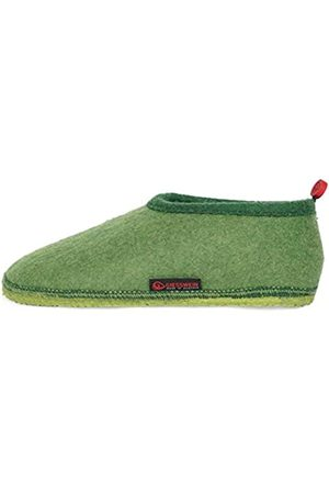 Giesswein Slipper Tambach Grass 39 - Closed Felt Slippers for Men & Women, Changeable Footbed, Warm Unisex House Shoe, Mules, Comfortable Slippers with Flexible Sole, Non-Slip