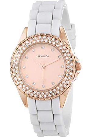 Sekonda Womens Analogue Classic Quartz Watch with Silicone Strap 2684