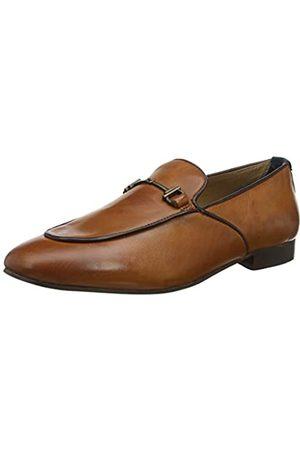 H by Hudson Men's Carmarthen Calf Loafers, (Tan 24)
