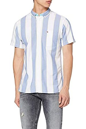 Tommy Jeans Tommy_Jeans Men's Tjm Striped Oxford Shirt Casual, (Federal /Multi 432)