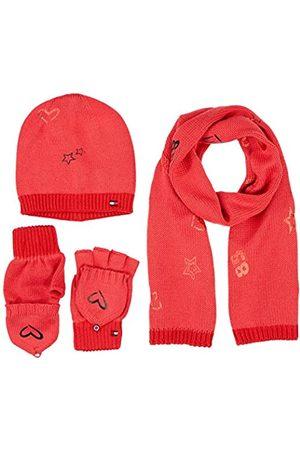 Tommy Hilfiger Women's NEW BORN GIRL POPPY GIFTPACK Scarf, Hat & Glove Set