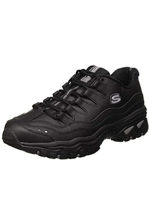 Skechers Men's ENERGY-BRUNKZ Trainers, Smooth Leather/ Trim BBK)
