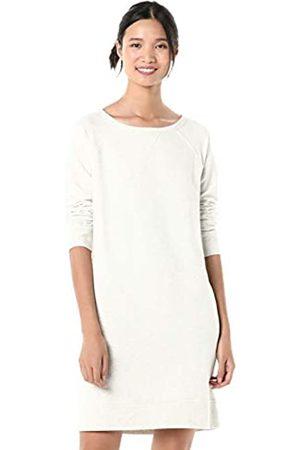 Goodthreads Modal Fleece Popover Sweatshirt Dress Pale Heather