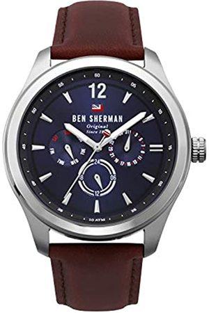 Ben Sherman Mens Multi dial Quartz Watch with Leather Strap WBS112UT