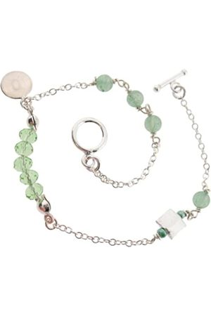 Earth Sterling 20cm 'Micro' Bracelet with Aventurine Beads