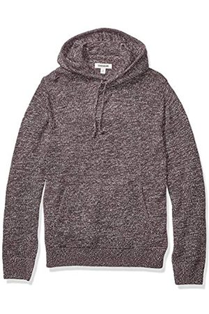 Goodthreads Supersoft Marled Pullover Hoodie Sweater Burgundy