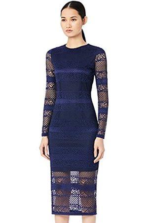 TRUTH & FABLE Amazon Brand - Women's Midi Lace Bodycon Dress, 16