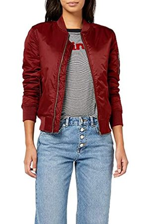 Urban classics Ladies Basic Bomber Jacket Jacket, (burgundy 606)