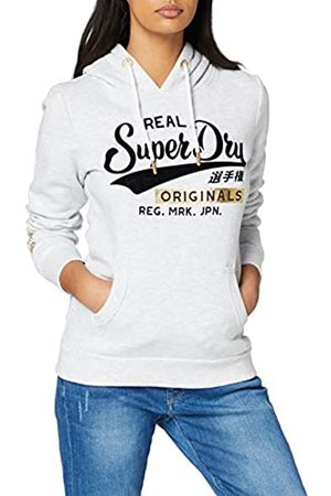 Superdry Women's Real Originals Flock Metallic Entry Hood Hoodie